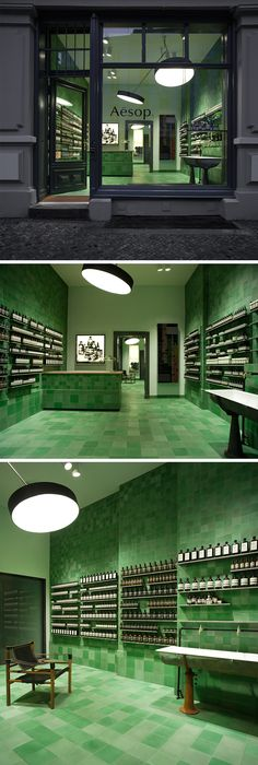 Aesop opens first German store When I went to Berlin for the first time one of o… - GameOn. Aesop Shop, German Store, Magazine Shop, Lighting Concepts, Retail Interior, Berlin, Shop Interiors, Retail Shop, Tents