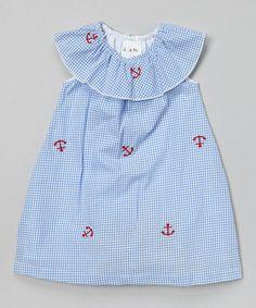 Blue Gingham Anchor Yoke Dress - Infant & Toddler #zulily #zulilyfinds                                                  18.99