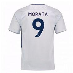 Chelsea Alvaro Morata 9 Venkovní Dres 17-18 Krátký Rukáv Neymar, Messi, Manchester United, Ronaldo, Premier League, Athletic Tank Tops, Chelsea 2017, Women, Fashion