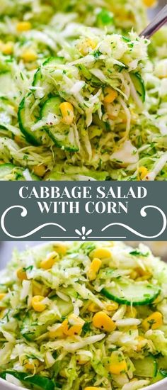 This Cabbage Salad with Corn is made with only a few ingredients and it tastes fantastic! It makes the perfect side dish for almost any kind of meal. FOLLOW Cooktoria for more deliciousness! If you try my recipes - share photos with me, I ALWAYS check!