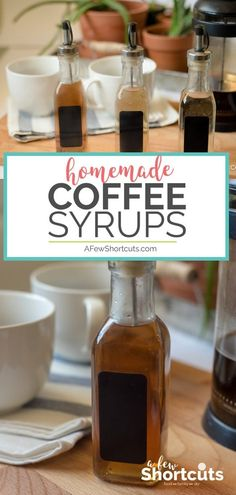 Homemade Coffee Syrups Recipes - A Few Shortcuts - - Don't spend a fortune on store-bought syrups! Have cafe style coffee at home with these SIMPLE Homemade Coffee Syrups! So many flavor choices! Coffee Tasting, Coffee Drinks, Coffee Syrups, Coffee Flavored Syrup, Caramel Coffee Syrup, Frappuccino, Ninja Coffee Bar Recipes, Homemade Syrup, Homemade Recipe