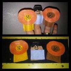 Daniel and the Lion's Den finger puppets