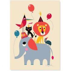Ingela Arrhenius Animal Party poster - 50x70 cm £19