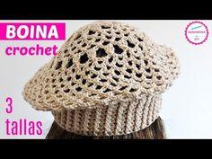 Crochet Beret Hat In 3 Sizes – Crochet Ideas Crochet Beret Pattern, Crochet Adult Hat, Easy Crochet Hat, Crochet Ideas, Crochet Tablecloth, Applique Patterns, Baby Hats, Favorite Color, Beanie
