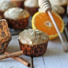 Fragrant muffins filled with honey, orange and cinnamon. They're not too sweet, making it perfect for breakfast!