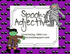 "FREE LANGUAGE ARTS LESSON - ""Spooky Adjectives"" - Go to The Best of Teacher Entrepreneurs for this and hundreds of free lessons.   #FreeLesson   #TeachersPayTeachers   #TPT   #LanguageArts   #Halloween  http://www.thebestofteacherentrepreneurs.net/2013/10/free-language-arts-lesson-spooky_12.html"