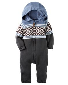 Baby Boy Fair Isle Jumpsuit | Carters.com