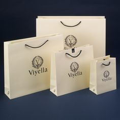 Viyella Luxury Carrier bags. Created for Viyella, part of the Austin Reed Group.