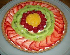 fresh fruit tart made with cool whip! #Easter #Spring #Light #Fresh # ...