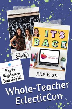 🥰Whole-Teacher EclecticCon is back July 19 -23! 🎉 Last summer was pretty epic, and we're getting ready to repeat the awesomeness with all new sessions and panels designed with the whole-teacher in mind. There really is something for everyone at this virtual conference. AND VIVIFY STEM IS PRESENTING!! Math Games For Kids, Fun Math Activities, Hands On Activities, Stem Learning, Project Based Learning, Student Learning, High School Classroom, Science Classroom, Math Stem