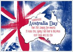 Happy Australia Day Cards Australia Flag and Map Design Australian Party, Australian Flags, Australian People, Party Co, Bbq Party, Australia Day Celebrations, Aussie Bbq, Happy Australia Day, Picture Logo