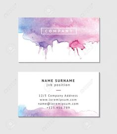 Beautifully designed watercolor business cards