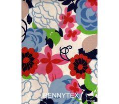 Coton imprimé motif fleurs couleur