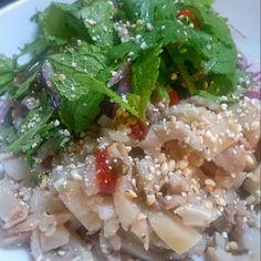 ガツや豚ミミまでいれて本格的に作ってみた。 あーー、タイに行きたい!!! - 20件のもぐもぐ - ミントたっぷり豚肉のラーブ by kiabuu