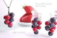 Blueberry Jewelry Berries Handmade Clay Fruits by LaNostalgie05 on DeviantArt