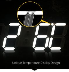 LED Wall Clock Modern Digital Alarm Table Clocks Nightlight Saat Wall Clock For Home Living Room Office Desk 24 or 12 Hour Price: & Flat Rate Shipping Digital Light, Led Wall Clock, Red Green Yellow, Digital Clocks, Display Design, Home Living Room, Cool Watches, Alarm Clock, Light Colors