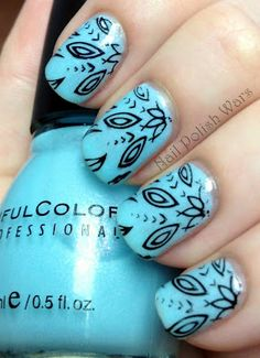 Nail polish art. another fine point sharpie? easy enough!