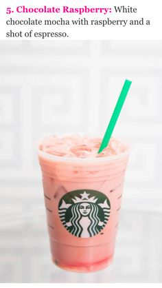10 Secret Starbucks Drinks Your Barista Is Drinking Without You Chocolate Raspberry: White chocolate mocha with raspberry and a shot of espresso. Find out the 9 other Starbucks secret menu drinks at Starbucks Secret Menu Drinks, My Starbucks, Starbucks Recipes, Coffee Recipes, Drink Recipes, Keurig Recipes, Fondue Recipes, Milkshake Recipes, Milkshakes