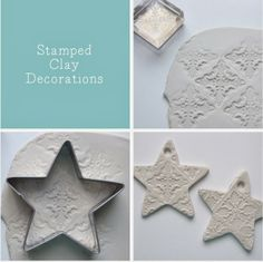 DIY - stamped clay ornaments....tree