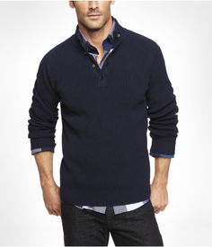 SNAP MOCK NECK SWEATER | Express Gifts for men