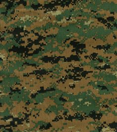 Designed with a digital camouflage pattern, this cotton polyester blend fabric is ideal for t-shirts, pants & jackets. Shop camouflage fabrics at JOANN. Camouflage T Shirts, Camouflage Patterns, Military Camouflage, Military Art, Army Camo, Woodland Fabric, Woodland Camo, Survival Shop, Camo Wallpaper