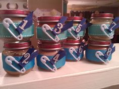 Baby food jars for baby shower game
