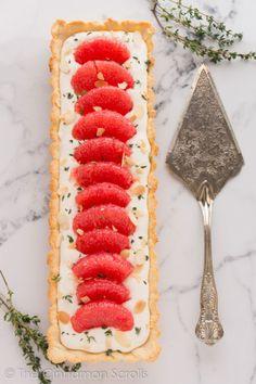 Pompelmo & Thyme Mascarpone Crostata con la cannella rotoli