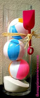 Pool party mini beach ball centerpiece