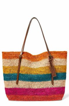 Polo Ralph Lauren Stripe Raffia Tote Choosing bags in accordance with physique Bags are probably Crochet Handbags, Crochet Purses, Crochet Bags, Knit Crochet, Mode Crochet, Crochet Shell Stitch, Knitting Patterns, Crochet Patterns, Knitted Bags