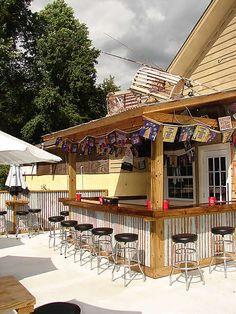 "like the outside ""bar like"" seating"