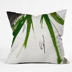 Ginette Fine Art Green Souls 2 Throw Pillow | DENY Designs Home Accessories