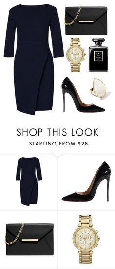 """""""Untitled #76"""" by rodoulla97 on Polyvore featuring ZALORA, Christian Louboutin, MICHAEL Michael Kors, Michael Kors and Ippolita"""