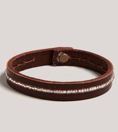 Beaded Leather Bracelet via AE