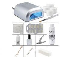 Kit débutant Gel UV lampe couleur argent
