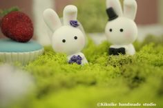 LOVE ANGELS Wedding Cake Topper-love rabbits and bunny by kikuike