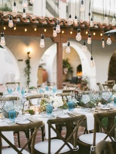 Edison lightbulbs wedding outdoor decor: http://www.stylemepretty.com/2017/04/04/gorgeous-southern-california-rustic-elegant-wedding/ Photography: Jeremy Chou - http://www.jeremychou.com/