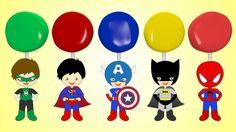 Lollipop Finger Family Superman Batman Spiderman Captain America Green Lantern