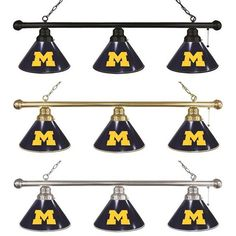 Use this Exclusive coupon code: PINFIVE to receive an additional 5% off the University of Michigan 3 Shade Billiard Light at sportsfansplus.com