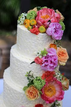 4 tier Lace BUttercream wedding cake