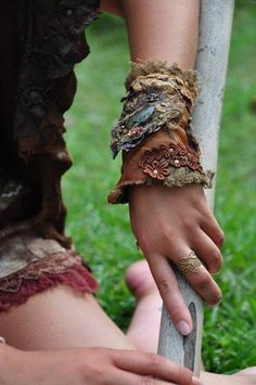 Jungle Gypsy fashion ~ Wide Soft Leather cuff... I could possibly make these myself..