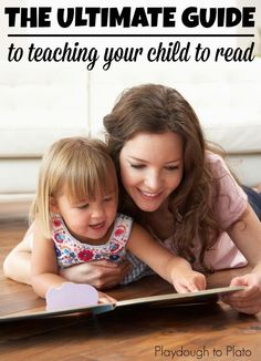 This is so helpful!! The step-by-step process for teaching kids how to read and simple ways to do it.