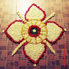 50 Most Beautiful Flower Rangoli Designs (ideas) that you can make during any occasion on the living room or courtyard floors. Rangoli Designs Flower, Rangoli Ideas, Rangoli Designs Images, Easy Rangoli, Save Trees Slogans, Tree Slogan, Onam Pookalam Design, Simple Flower Rangoli, Flowers Decoration