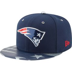 d1b73d32027 Men s New England Patriots New Era Navy NFL Spotlight 59FIFTY Fitted Hat