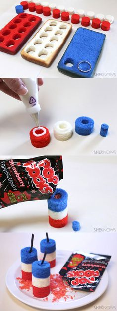 So cool! Hide Pop-Rocks inside little firecracker-shaped cakes for a snappy surprise.
