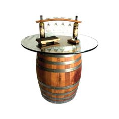 Wine Barrel Bar Table by Burgundy Oak