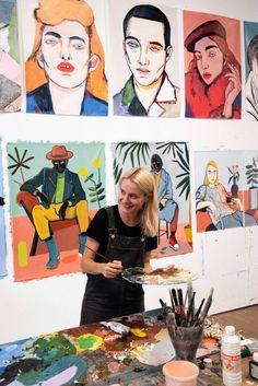 Carla Fuentes y Manuel Ordovás se convierten en los nuevos embajadores de Matusalem Homies | RestaurantHotelBar.com Art Studio Room, Art Studio Design, Studios D'art, Artist Aesthetic, Portrait Art, New Art, Art Inspo, Illustration Art, Illustrations