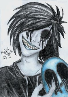 eyeless Jack drawings | Eyeless Jack [SCAN] by Jeffuzed