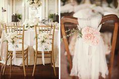 Ideas para decorar las sillas de la boda