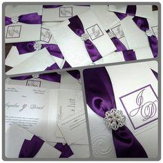 Wedding Invitation ivory whit ribbon and by CREACIONinvitaciones, $5.75