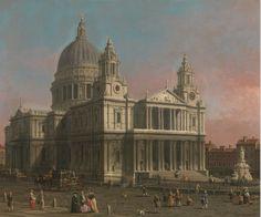 Canaletto. Vista de la catedral de Saint Paul, Londres. 1754.